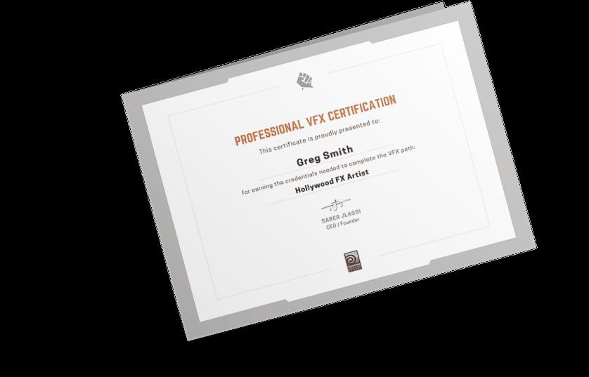 VFX Certification from Rebelway